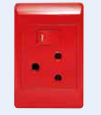 Dedicated Plug Outlet 16amp RED - FOR Power Skirting